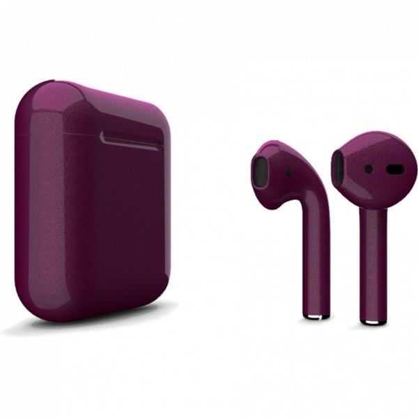 Беспроводные наушники Apple AirPods 2 Custom Edition фиолетовый глянец
