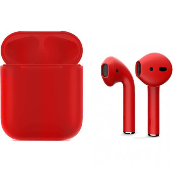 Беспроводные наушники Apple AirPods 2 Full Color Custom Edition красные матовые полная покраска