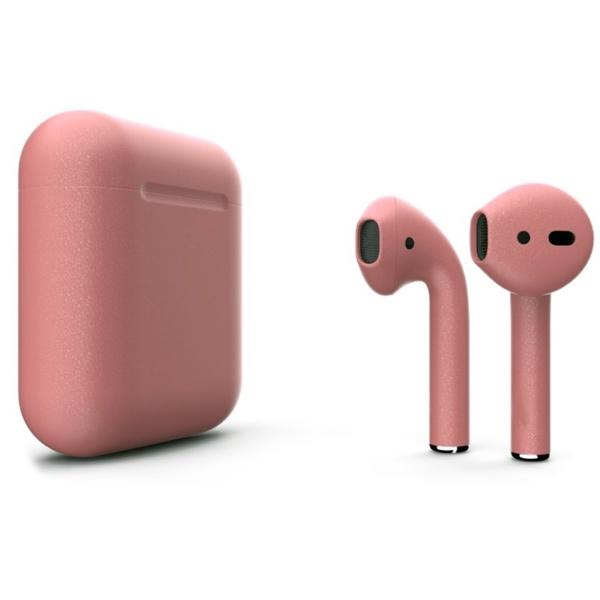 Беспроводные наушники Apple AirPods 2 Custom Edition розовое золото матовые