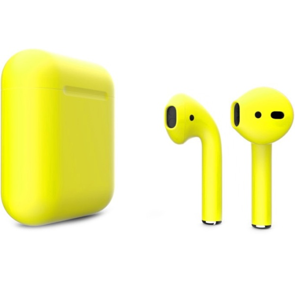Беспроводные наушники Apple AirPods 2 Custom Edition жёлтые матовые