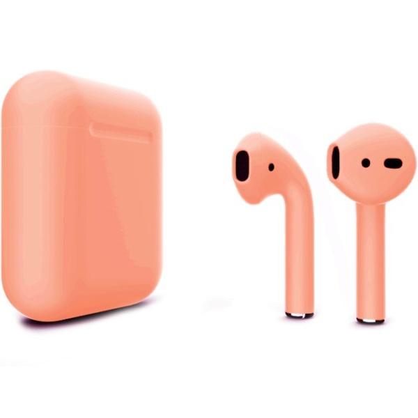 Беспроводные наушники Apple AirPods 2 Custom Edition персиковые матовые