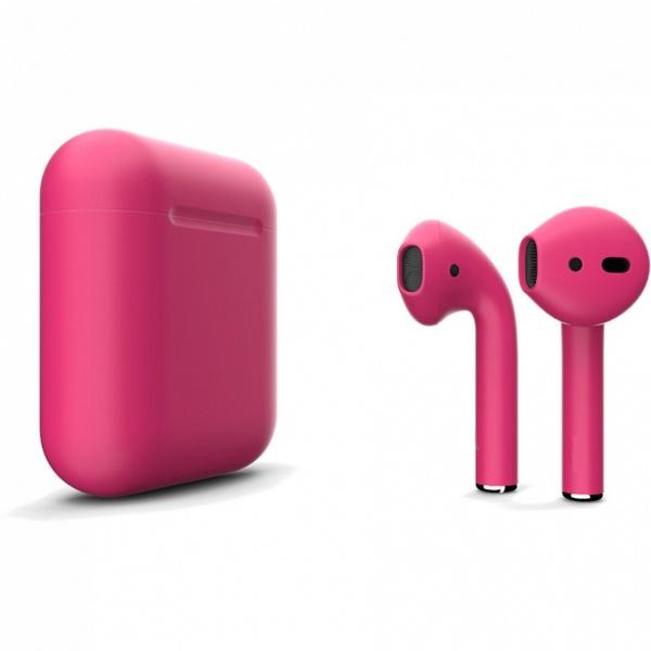 Беспроводные наушники Apple AirPods 2 Custom Edition розовый матовый