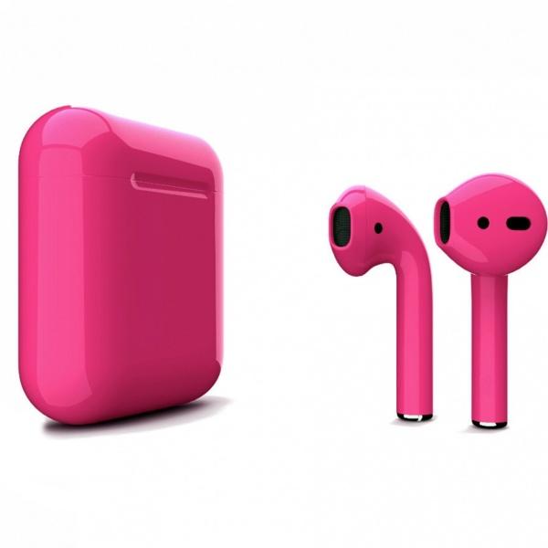 Беспроводные наушники Apple AirPods 2 Custom Edition розовый глянец