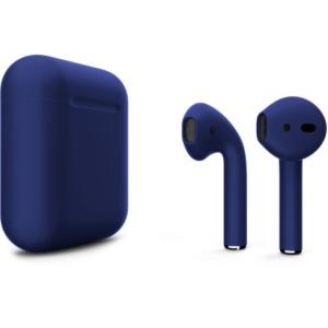 Беспроводные наушники Apple AirPods 2 Custom Edition тёмно-синие матовые