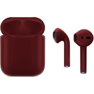 Беспроводные наушники Apple AirPods 2 Full Color Custom Edition бордовые матовые полная покраска