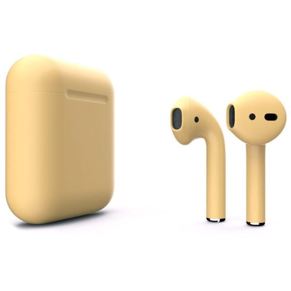 Беспроводные наушники Apple AirPods 2 Custom Edition золотые матовые