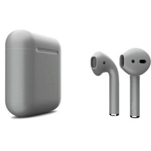 Беспроводные наушники Apple AirPods 2 Custom Edition тёмный металлик