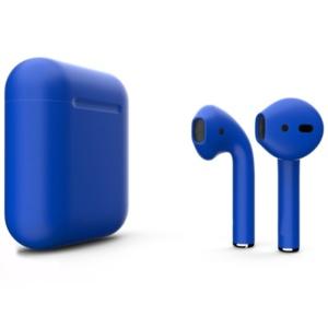 Беспроводные наушники Apple AirPods 2 Custom Edition синий металлик