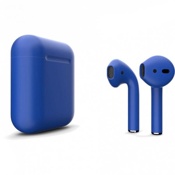 Беспроводные наушники Apple AirPods 2 Custom Edition синий матовый