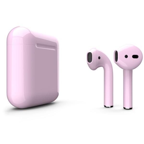 Беспроводные наушники Apple AirPods 2 Custom Edition светло-розовые глянцевые