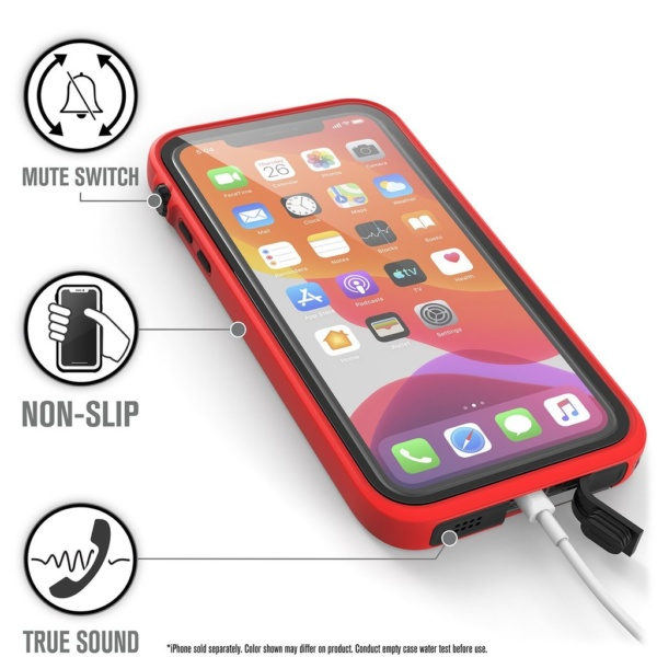 Водонепроницаемый чехол Catalyst Waterproof Case для iPhone 11 Pro Max Красный