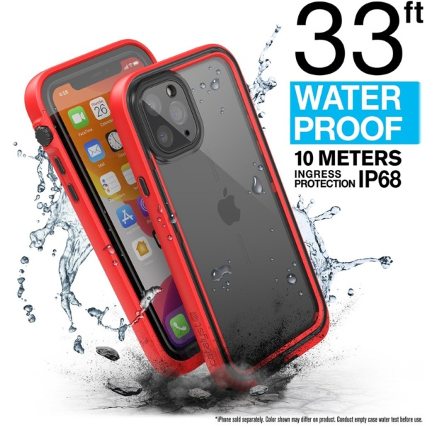 catipho11reds w1 600x600 - Водонепроницаемый чехол Catalyst Waterproof Case for iPhone 11 Pro Красный CATIPHO11REDS