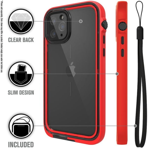 catipho11reds w2 600x600 - Водонепроницаемый чехол Catalyst Waterproof Case for iPhone 11 Pro Красный CATIPHO11REDS