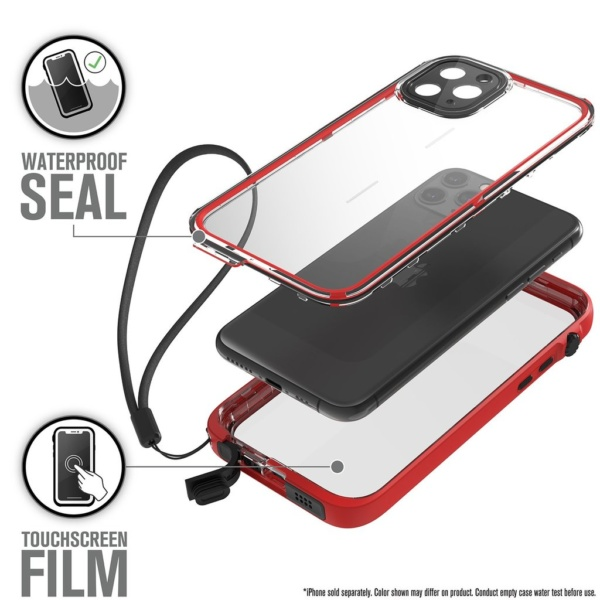 catipho11reds w4 600x600 - Водонепроницаемый чехол Catalyst Waterproof Case for iPhone 11 Pro Красный CATIPHO11REDS