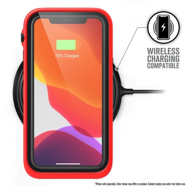 catipho11reds w6 600x600 - Водонепроницаемый чехол Catalyst Waterproof Case for iPhone 11 Pro Красный CATIPHO11REDS