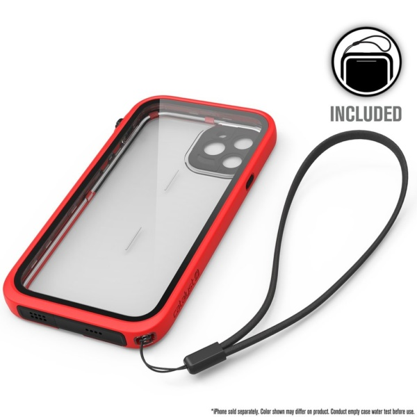 catipho11reds w7 600x600 - Водонепроницаемый чехол Catalyst Waterproof Case for iPhone 11 Pro Красный CATIPHO11REDS