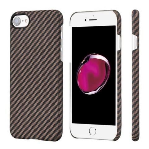 Карбоновый чехол Pitaka MagEZ Case для iPhone 7/8 черно-коричневый в полоску