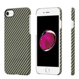 Карбоновый чехол Pitaka MagEZ Case для iPhone 7/8 черно-зеленый в полоску