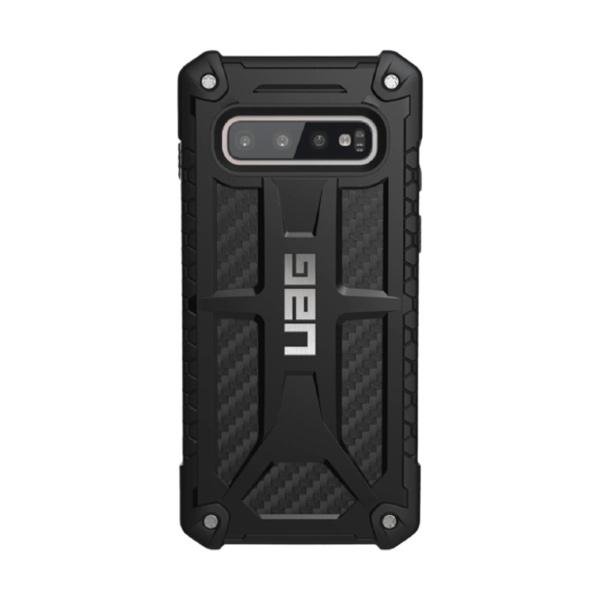 Чехол Uag Monarch для Samsung Galaxy S10 + чёрный карбон (Carbon Fiber)