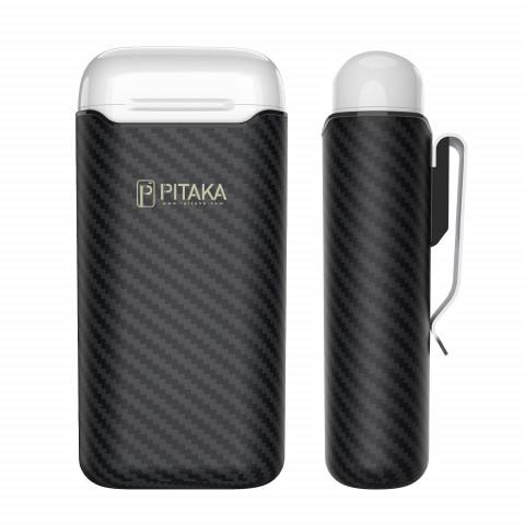 Ультрасовременный Premium кевларовый чехол Pitaka Air Pal для AirPods/AirPods II черный