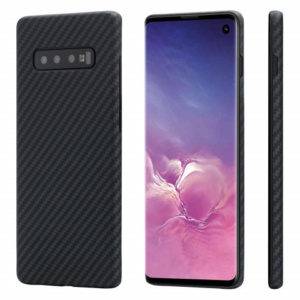 pitaka samsung galaxy s10 e1 300x300 - Карбоновый (кевлар) чехол Pitaka MagEZ Case для Samsung Galaxy S10+ черно-серый в полоску