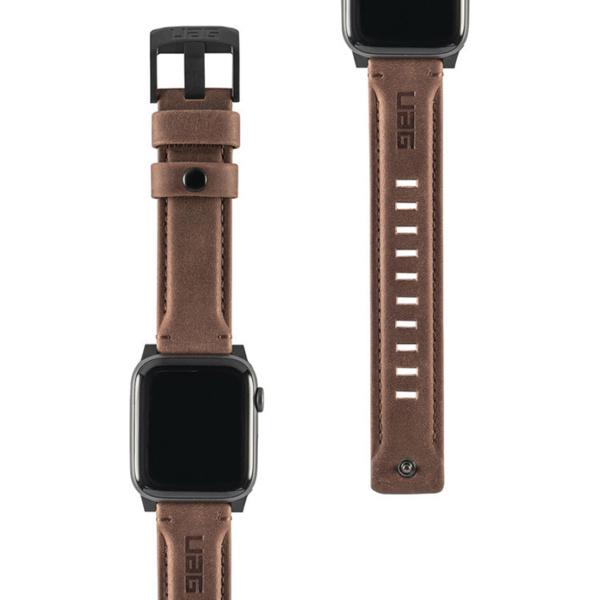 Ремень кожаный UAG для Apple Watch 44/42 коричневый (Brown)