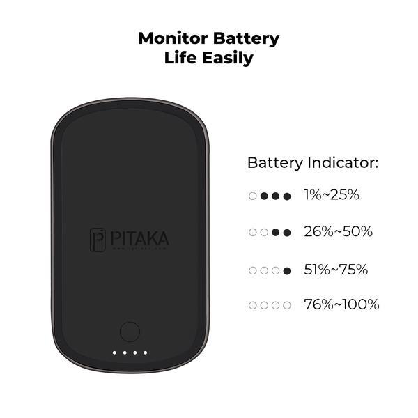 pitaka magez juice 3 - Беспроводное зарядное устройство с внешним аккумулятором Pitaka MagEZ Juice