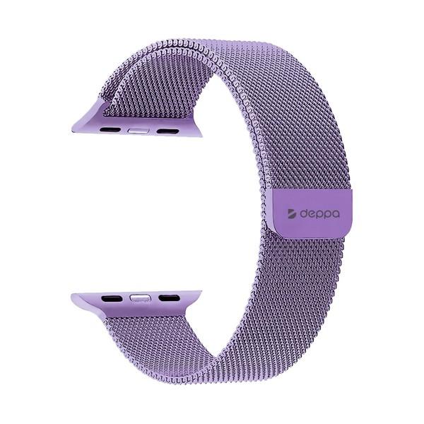 Ремешок из нержавеющей стали Deppa Band Mesh D-47141 для Apple Watch 40мм/ 38мм Лавандовый