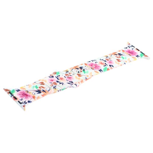 Ремешок силиконовый COTEetCI W38 Flowers (WH5265-RD) для Apple Watch 40мм/ 38мм White carnations Белая гвоздика