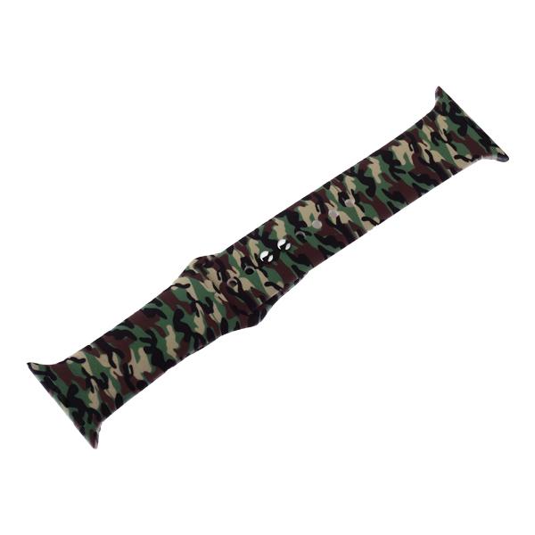 Ремешок силиконовый COTEetCI W45 Color (WH5279-CL) для Apple Watch 44мм/ 42мм Army camouflage Армейский камуфляж