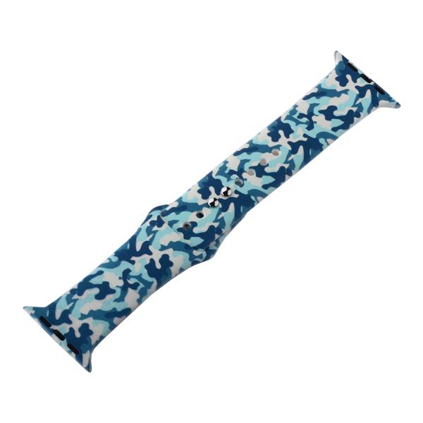 Ремешок силиконовый COTEetCI W45 Color (WH5279-HY) для Apple Watch 44мм/ 42мм Navy camouflage Синий камуфляж
