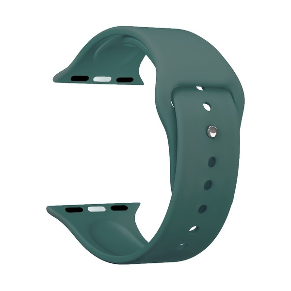 Ремешок силиконовый Deppa Band Silicone D-47126 для Apple Watch 40мм/ 38мм Зеленый