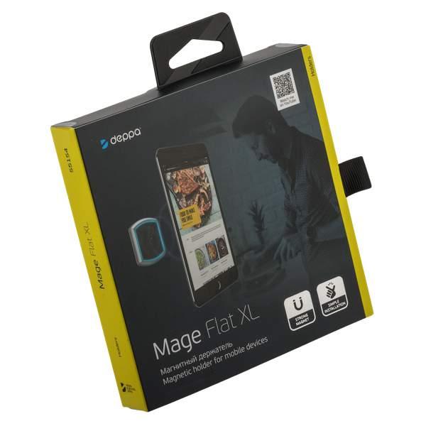 mage flat xl 607 - Автомобильный&офисный держатель Deppa для планшетов D-55154 магнитный Mage Flat XL универсальный (до 500гр) Черный
