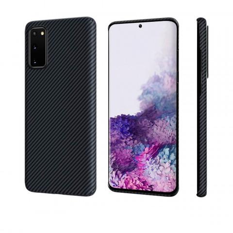 Чехол Pitaka MagEZ Case Для Galaxy S20 Черный, Кевлар (Арамид)