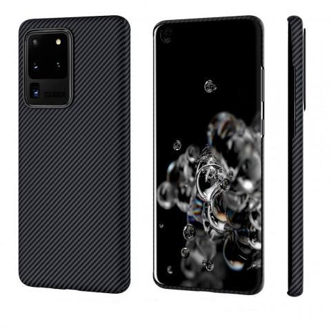 Чехол Pitaka MagEZ Case Для Galaxy S20 Ultra, Черный Кевлар (Арамид)