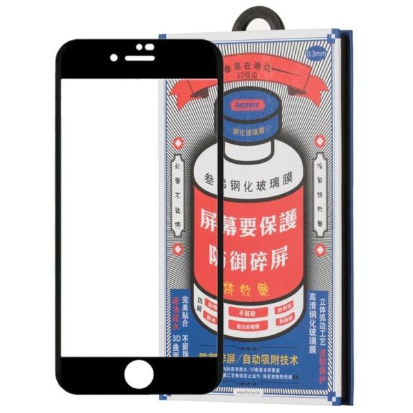 Защитное стекло для iPhone 7/8 3D Remax Glass черное