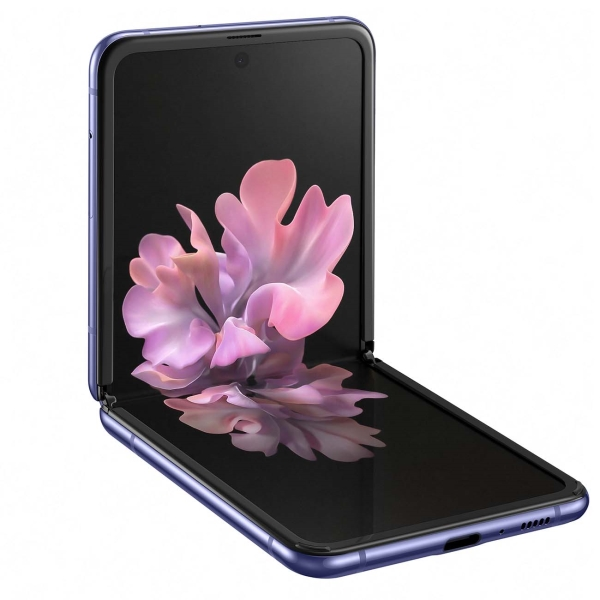 samsung galaxy z flip purple 1 - Смартфон Samsung Galaxy Z Flip Purple SM-F700F/DS РСТ