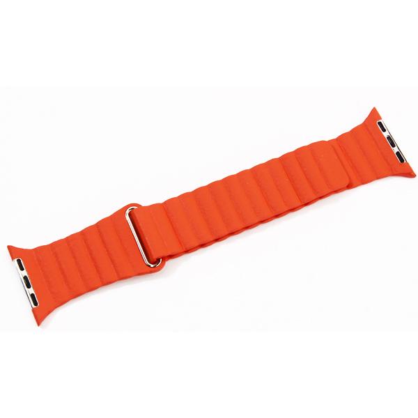 Ремешок кожаный COTEetCI W7 Leather Magnet Band (WH5206-OR) для Apple Watch 44мм/ 42мм Оранжевый