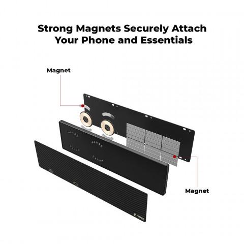 Домашний магнитный держатель/зарядка на стену MagEZ BAR из карбона для чехлов Pitaka