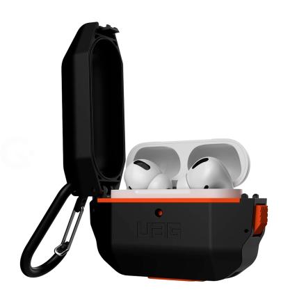 Чехол UAG для Apple Airpod Pro Hardcase, черно-оранжевый