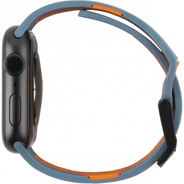 Ремень силиконовый UAG Civilian Strap для Apple Watch 44/42 серый шифер/оранжевый (Slate/Orange)