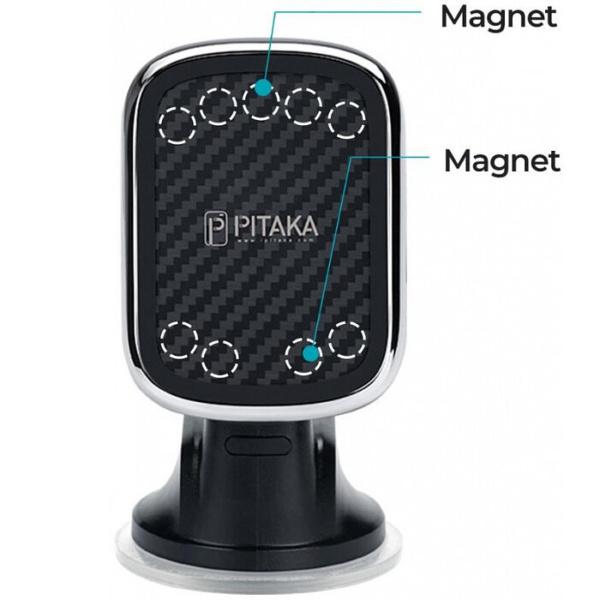 magez mount qi 2 600x600 - Pitaka MagEZ Mount Qi автомобильное зарядное устройство / магнитный держатель, крепление в решетку , кевлар (арамид)