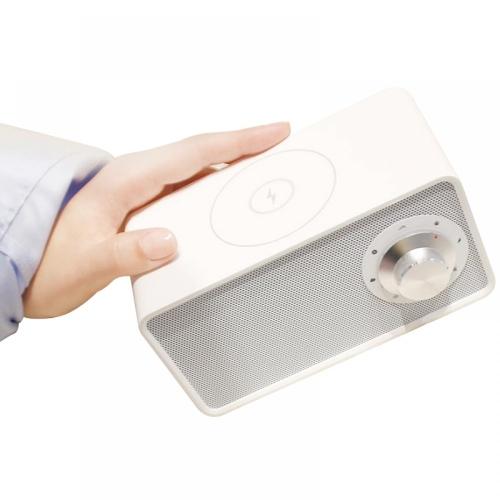 Колонка с поддержкой беспроводной зарядки Qualitell Wireless Charging Speaker White