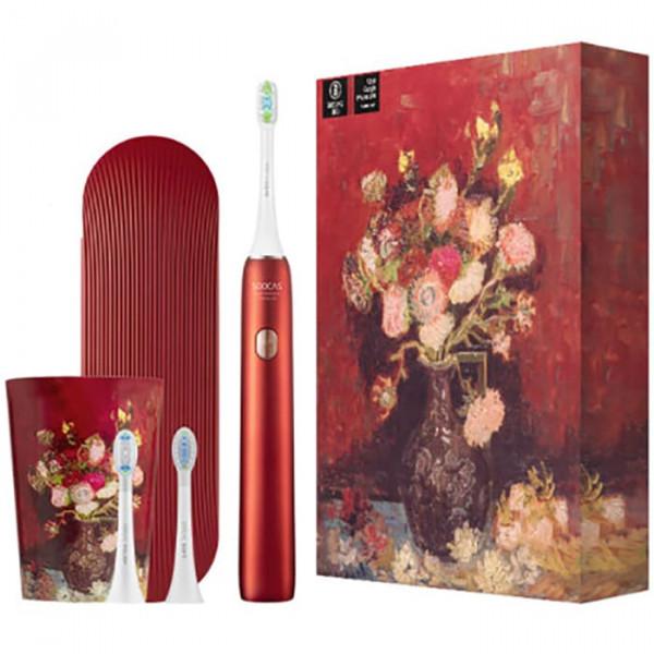 Зубная щетка электрическая Soocas X3U Soocas & Van Gogh Museum Design Red