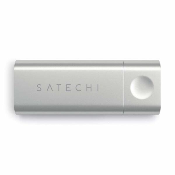 Картридер Micro/SD Satechi Type-C для MacBook 12 ST-TCUCS (Серебристый)