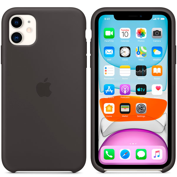 apple iphone 11 silicone case black 2 - Чехол Apple Silicone Case для iPhone 11 Black