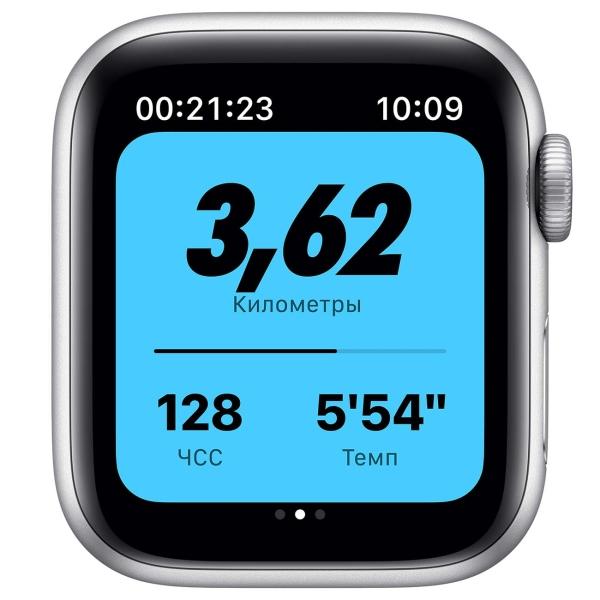 Смарт-часы Apple Watch Nike S6 40mm Silver Aluminum Case with Pure Platinum/Black Nike Sport Band M00T3RU/A