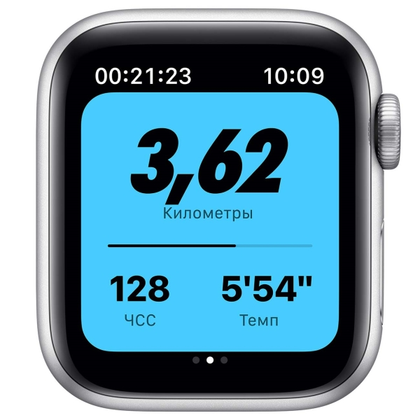 Смарт-часы Apple Watch Nike S6 44mm Silver Aluminum Case with Pure Platinum/Black Nike Sport Band MG293
