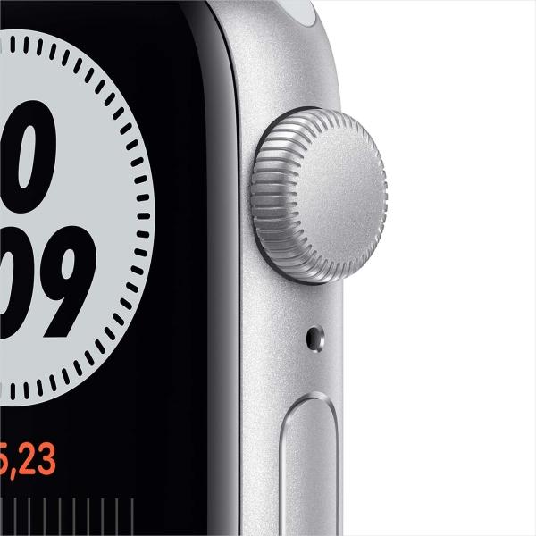 Смарт-часы Apple Watch Nike SE 40mm Silver Aluminum Case with Pure Platinum/Black Nike Sport Band MYYD2RU/A