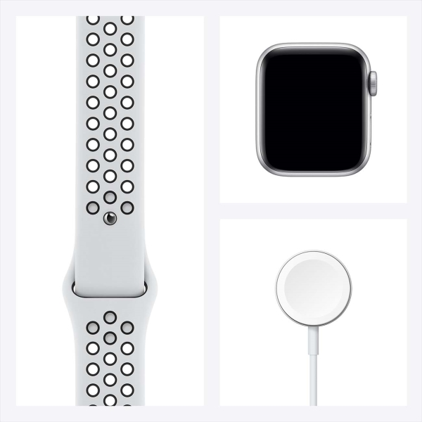 Смарт-часы Apple Watch Nike SE 44mm Silver Aluminum Case with Pure Platinum/Black Nike Sport Band MYYH2RU/A
